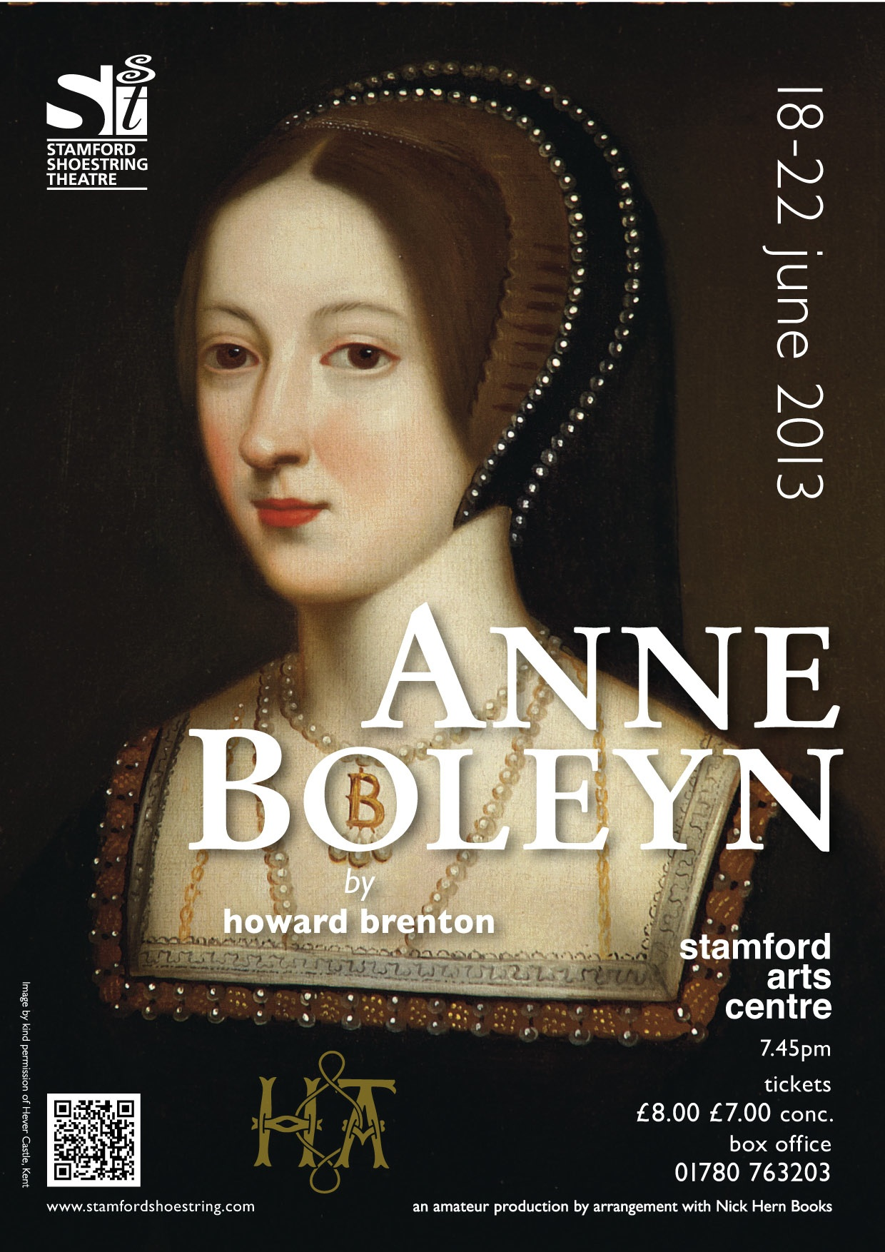 Nick Hern Books - Plays to Perform - Advertise Your Show images - ANNE BOLEYN Stamford