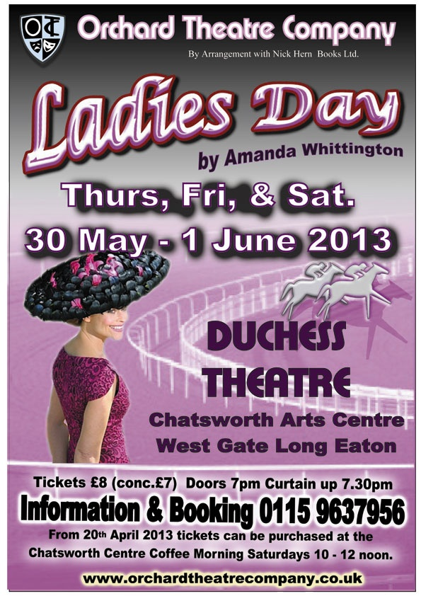 Nick Hern Books - Plays to Perform - Advertise Your Show images - LADIES DAY Orchard