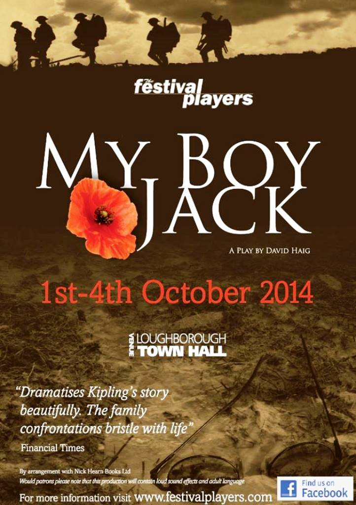 Nick Hern Books - Plays to Perform - Advertise Your Show images - My Boy Jack Festival Players