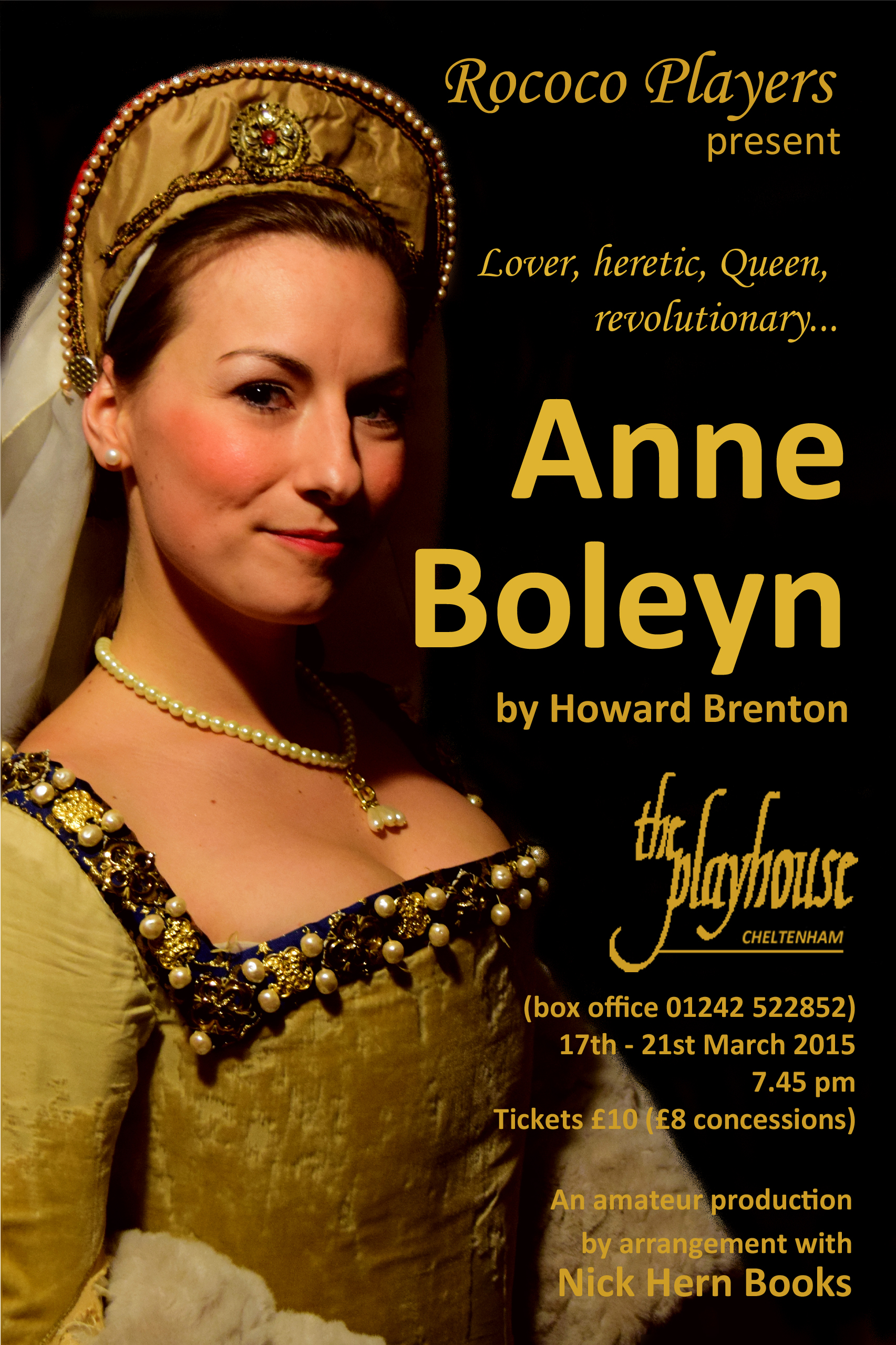Nick Hern Books - Plays to Perform - Advertise Your Show images - AnneBoleynRococo