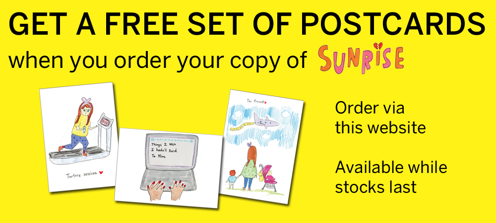 Free exclusive postcards when you pre-order your copy of Sunrise!