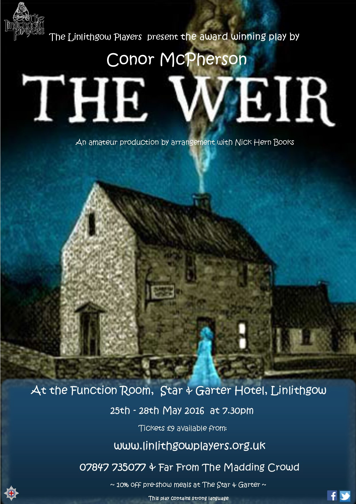 Nick Hern Books - Plays to Perform - Advertise Your Show images - The Weir Linlithgow